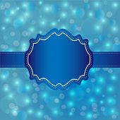 Background-Blue Lights And Ribbon