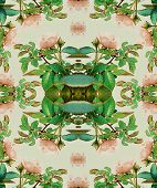 Floral Seamless Pattern Digital Art