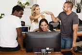 Technology Startup Team Celebrates Good News