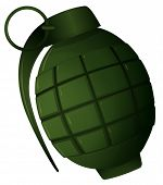 Illustration of a hand grenade