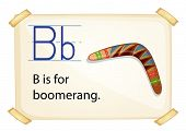 Poster of an alphabet B for boomerang