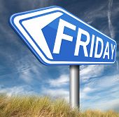 friday road sign event calendar or meeting schedule reminder
