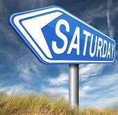 saturday road sign event calendar or meeting schedule reminder