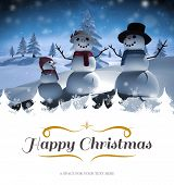 picture of snow border  - border against digitally generated white snow family - JPG