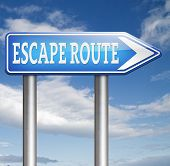 escape route to safety avoid stress and break free running away no rat race