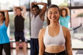 Young Asian Woman In A Gym