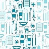 foto of diagnostic medical tool  - Medical seamless pattern with dental equipment icons - JPG