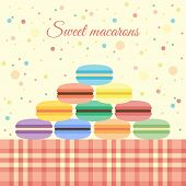 Macarons on the table