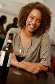 Beautiful Mixed-race Woman In A Restaurant