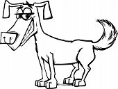 Cute Dog Character Coloring Page