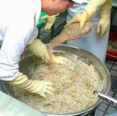 Making Korean Sesame Bean Sprouts