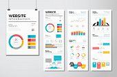 Flat web design & website infographics business vector elements