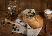 Mediterranean Homemade Olive Bread