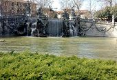 foto of turin  - Close up to the Fountain of the Twelve Months, Turin, Italy.