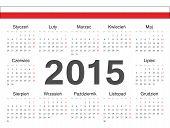 Vector Polish Circle Calendar 2015