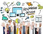 Responsive Design Internet Web Hands Volunteer Support Concept