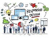 Responsive Design Internet Web Online Business People Concept