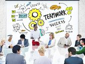 Teamwork Team Together Collaboration Business People Meeting Concept