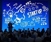 Start Up Business Launch Success Corporate Seminar Concept