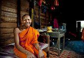 Smiling monk.
