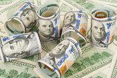 stock photo of twenty dollars  - Dollars - JPG