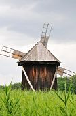 Windmill in Astra Museum Romania