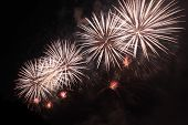 pic of firework display  - beautiful Fireworks display at the night sky - JPG