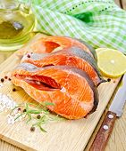 picture of redfish  - Three pieces of trout with rosemary and coarse salt - JPG