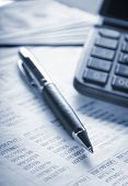 stock photo of statements  - Calculator - JPG