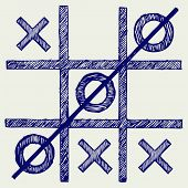 stock photo of toe  - Tic tac toe - JPG