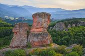 stock photo of rocking  - The Belogradchik Rocks at sunset Bulgaria - JPG