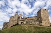 foto of templar  - Home or main entrance of Templar castle in Ponferrada the Bierzo Spain - JPG