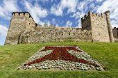 image of templar  - Home or main entrance of Templar castle in Ponferrada the Bierzo Spain - JPG