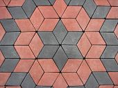 Red And Grey Block Paving