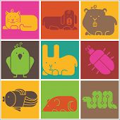 pic of aquatic animal  - Zoo animals icons  - JPG