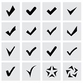 image of confirmation  - Vector confirm icon set on grey background - JPG