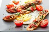 pic of pesto sauce  - Fried Eggs with Cherry Tomato - JPG
