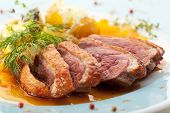 pic of duck breast  - Duck Breast with Orange and Potato - JPG