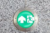 pic of emergency light  - Exit sign and light to emergency door on floor - JPG