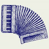 stock photo of accordion  - Accordion - JPG
