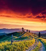 image of fantastic  - Fantastic morning mountain landscape - JPG