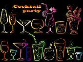 pic of cocktail menu  - Set of cocktails - JPG