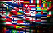 foto of flags world  - Big flag background made of world country flags - JPG