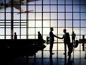 stock photo of terminator  - International Airport Business Travel Airport Terminal Concept - JPG