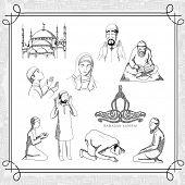 foto of dua  - Muslim persons in various religious activities - JPG