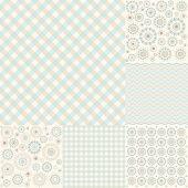 foto of cell block  - Seamless geometric pattern arabesque cell six species  - JPG