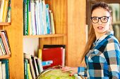 stock photo of geography  - Education travel and geography concept - JPG