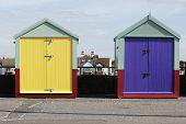 Beach Huts At Hove. Brighton. UK