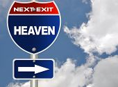 Heaven road sign