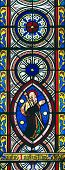 Window picturing St. James the Greater in Chetwode Parish Church (former Abbey) in Buckinghamshire,